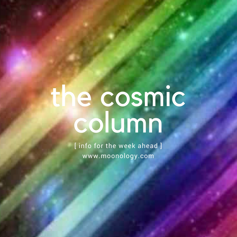 COSMIC COLUMN January 22 2018