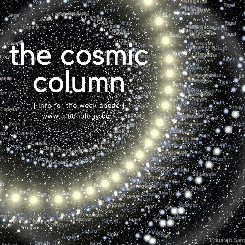 COSMIC COLUMN January 8 2018