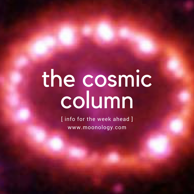 COSMIC COLUMN January 15 2018