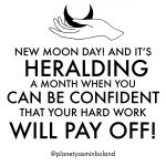 New Moon day!